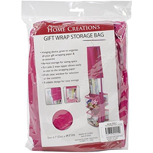 Innovative Home Creations Gift Wrap Storage Holder Fuchsia