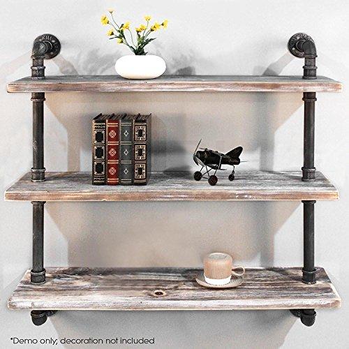Diwhy Shelves Industrial Shelf with Pipe TubingIndustrial DIY Retro Wall Mount Iron Pipe Shelf Storage Shelving Bookshelf 36