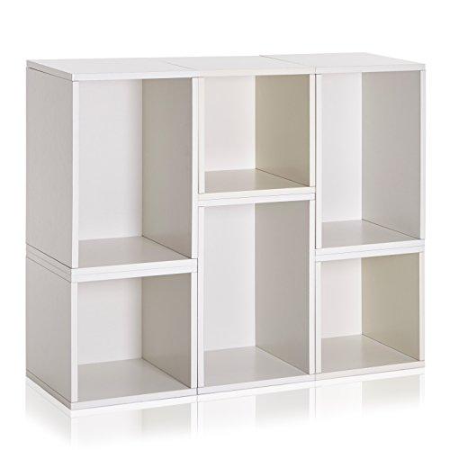 Way Basics Naples Storage Blox Eco Friendly Modular Shelving White