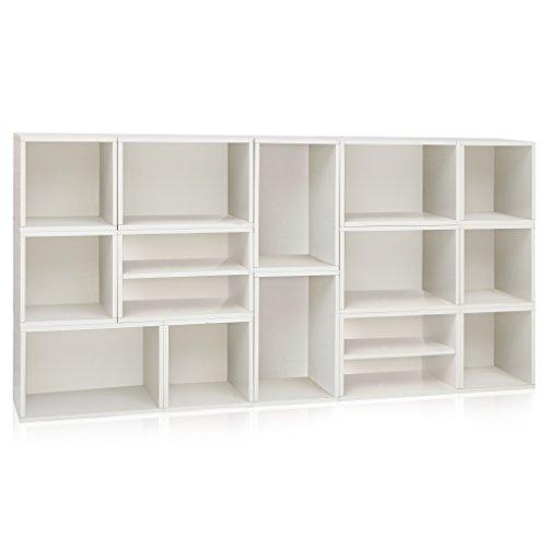 Way Basics Rome Storage Blox Eco Friendly Modular Shelving White