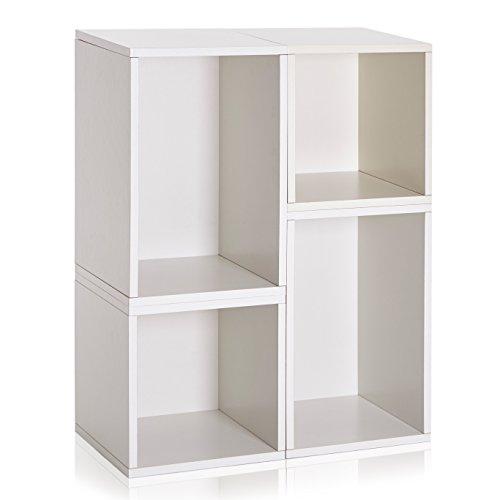 Way Basics verona Storage Blox Eco Friendly Modular Shelving White