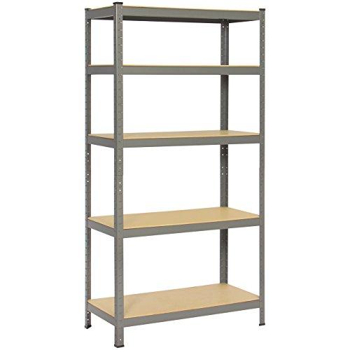 Best Choice Products 72 Heavy-Duty 5 Level Garage Shelf Metal Storage Rack Unit W Adjustable Shelves- GrayBlack