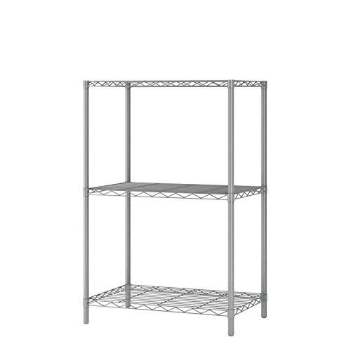 "Home-Like 3-Tier Wire Shelving Heavy Duty Shelf Metal Storage Rack Grey Color 21""W x 14"" D x 32""H"