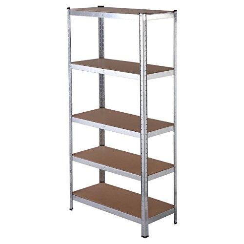 lookpeech 5 Level Heavy Duty Shelf Garage Steel Metal Storage Rack Adjustable Shelves