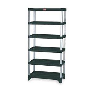 Rubbermaid - FG9T4000BLA - 35-14 x 20 x 72-34 Freestanding Plastic Shelving Unit Black