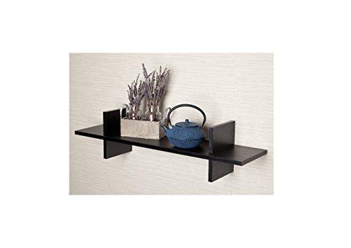 Metro Shop Decorative H Shaped Black Laminate Wall Shelf-Decorative H Shaped Black Laminate Wall Shelf
