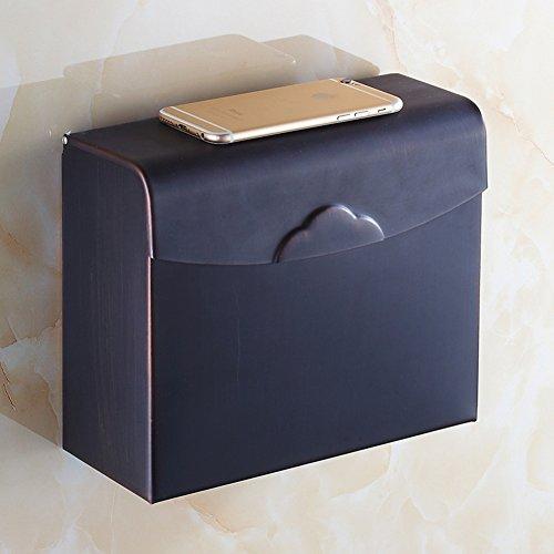 Antique bronze black tissue boxPaper towel holderToilet paper boxHanging wall Toilet paper holderBathroom Shelves