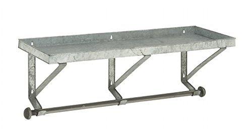 Deco 79 Robust Metal Wall Shelf With Rod