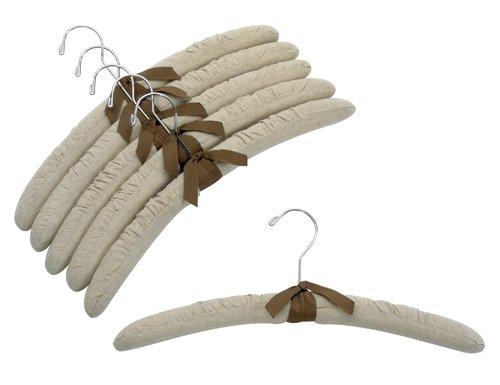 Only Hangers 17 Linen Padded Hangers w Chrome Hook