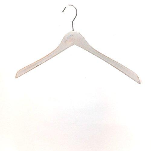 Koobay 18  wood hangers with 77 hanger antique white wooden clothes hangerantique white 22pslot