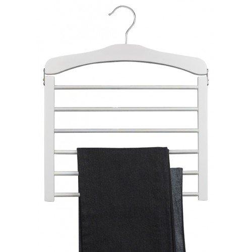 Only Hangers White Wooden Multi Pant Hanger