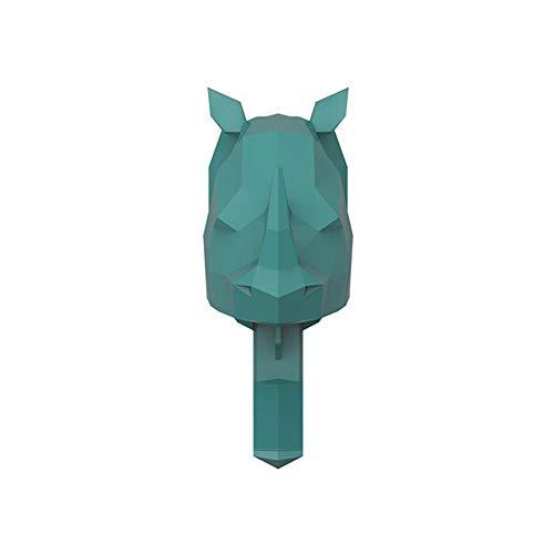 i7kbgshj 3PCS Self Adhesive Wall Hook Coat Hook Cute Elephant Elk Rhino Door Hook Creative Animal Single Coat Hanger Rack Storage Organizer for Coat Scarf Bag Towel Key Cap HatGreen