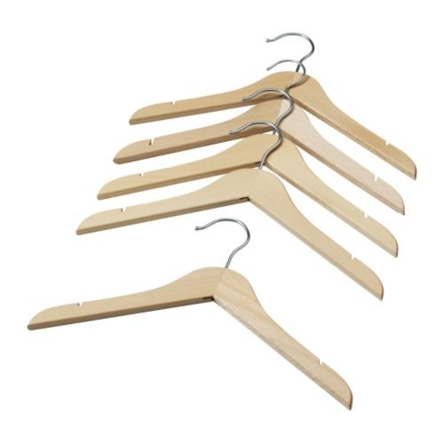IKEA Hanga Childrens Coat Hanger Natural 5 pack 60178769