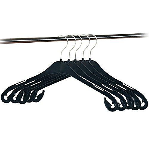 Kesper 16825 5 Piece Black Clothes Hanger