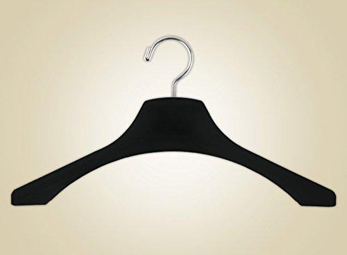 16½ Thin Shaper Black Velvet LadiesMen Hanger 25 pack