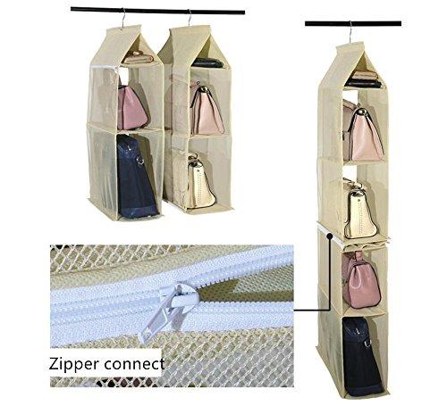 Osierl Closet Handbag Hanging Storage Bag Detachable for Women Men with Hanger