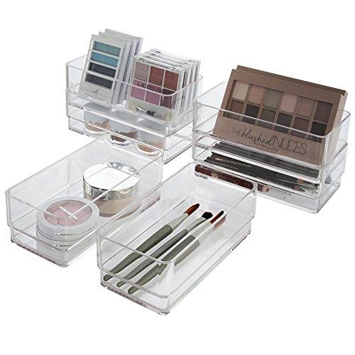 STORi Break-Resistant Plastic Drawer Organizers 6 x 3 x 2 l Set of 6