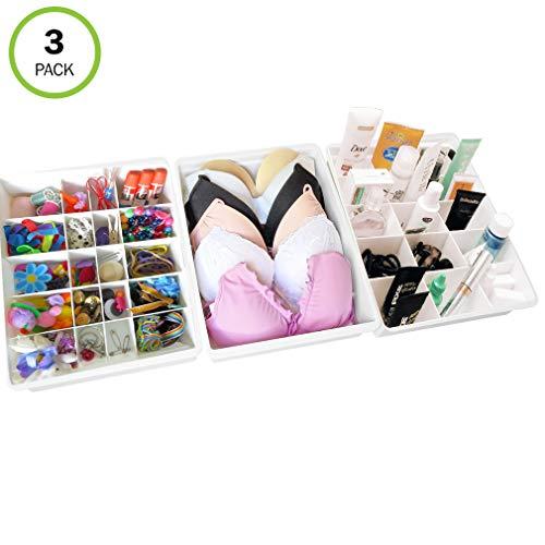 Evelots Drawer Organizers-21 Adjustable Dividers-Kitchen-Bathroom-Office-Set3