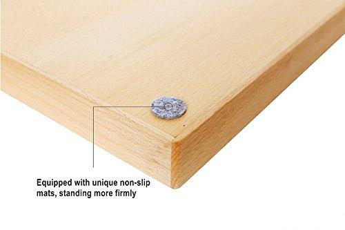 Ecloud Shop Western Style Beechwood Silverware Organizer Premium Wood Kitchen Utensil Drawer Organizers