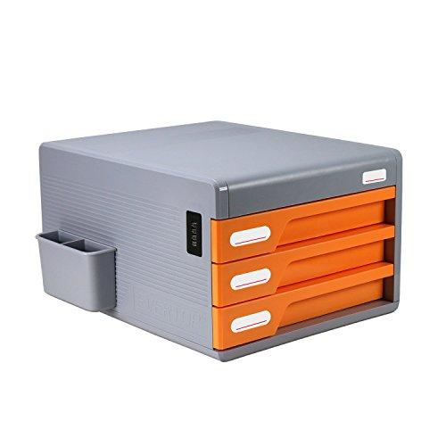 EVERTOP Desk Organizer Office Suppliers Drawers Caddy Orange