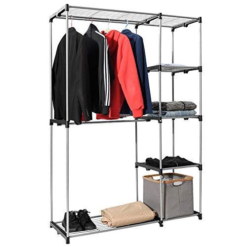 Portable Clothes Closet Garment Rack Wardrobe Storage Home Shelves Organizer Hot
