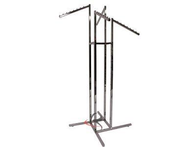 RK-K15 4 way Metal Chrome Garment Rack
