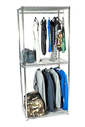 14 Deep x 30 Wide x 86 High Chrome Double Decker Garment Rack
