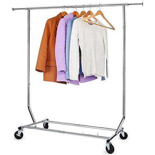 250 Lbs Load Capacity Clothing Garment Racks Commercial Grade Heavy Duty Chrome Finish