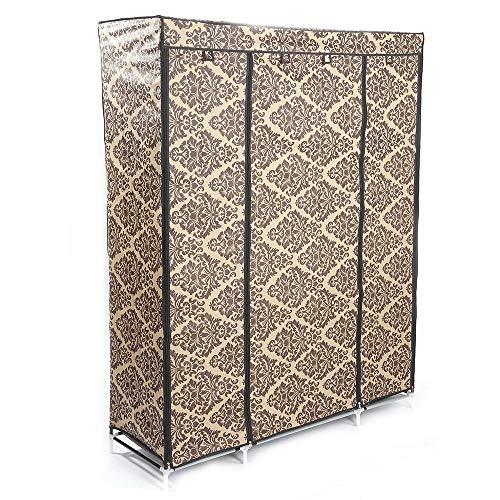 Cypressshop Portable Wardrobe Closet Storage Non Woven Fabric Clothes Racks Shelf Organizer Shelving Units for Outfits Garments Home Furniture