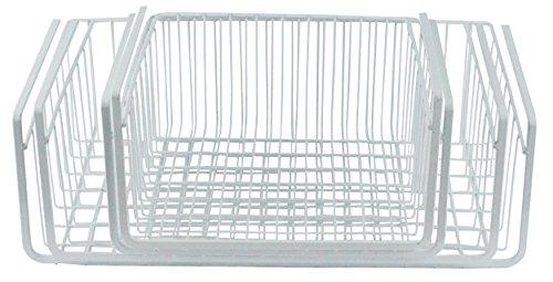Southern Homewares Wire Under Shelf Storage Basket 4 Piece Set White
