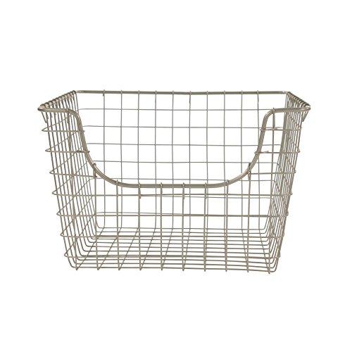 Spectrum Diversified Scoop Wire Storage Basket Medium Satin Nickel