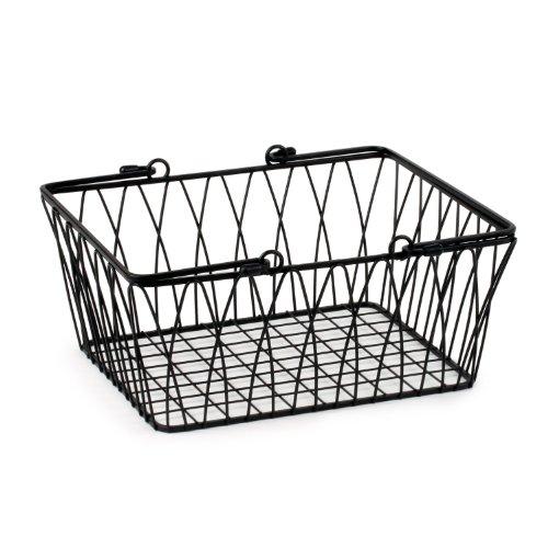 Spectrum Diversified Twist Wire Storage Basket Medium Black