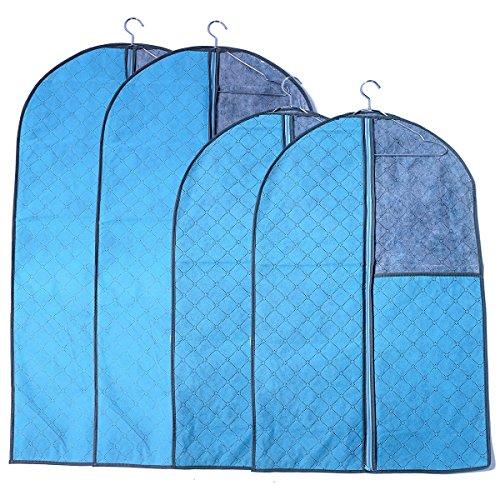 Doffey 4Pcs Dress Clothes Garment Suit Cover Zipper Storage Bag 2 Large  2 Medium
