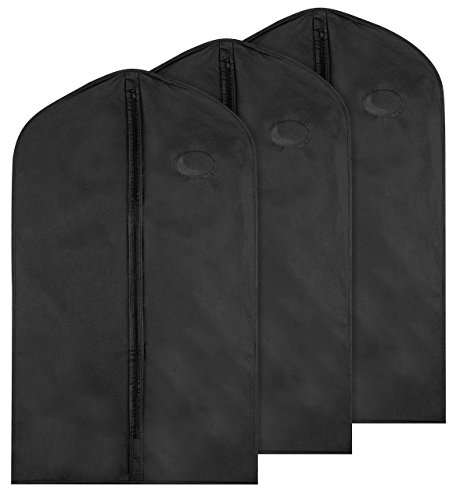 Garment Bag for Storage Pack of 3 Bags Keep Your Suit Costume Uniform and Other Clothes Safe
