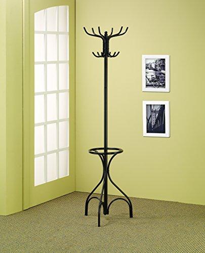 Coaster Home Furnishings 900821 Coat Rack with Umbrella Stand Black