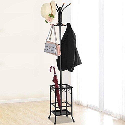 Yaheetech Metal Coat Rack Umbrella Stand Holder Vintage Hat Jakcet Metal Tree 8 Hooks