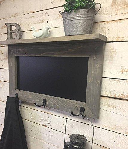 Chalkboard Shelf-Kitchen Chalkboard-chalkboard coat rack-Rustic Chalkboard Shelf-Shelf-Chalkboard-Message Board Shelf-Entryway Chalkboar