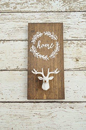 Rustic coat hook entryway coat rack laurel wreath home sign entryway organizer shabby chic rustic home decor farmhouse decor