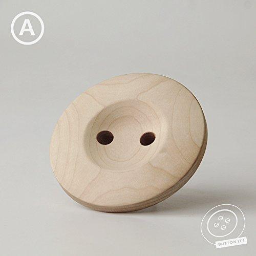 PinWei_ Nordic minimalist wood creative wall hanging coat rack buttonSection