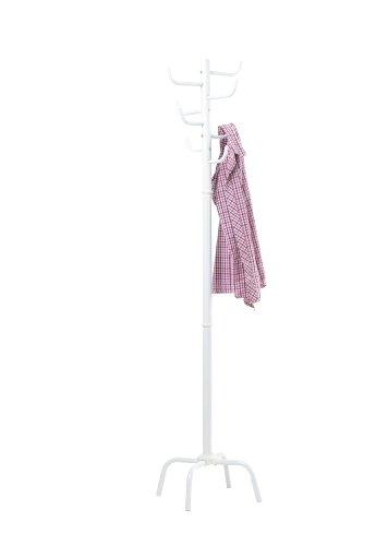 New 8 Hook Super Quality Metal HomeOffice Coat Hat Rack Stands Floor Standing 179cm White