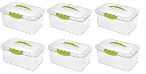 Sterilite 18942206 Medium Showoffs Clear Storage Box - Quantity 6