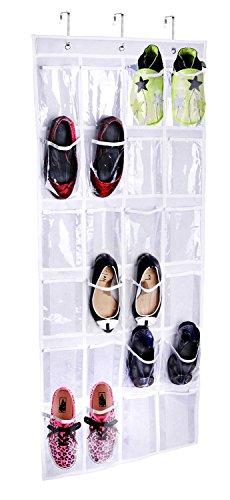 Joyoldelf 24 Pocket Door Hanging Holder Tidy Shoe Organiser Closet Storage Rack Box