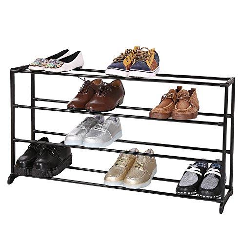 Corgy 457810 Tiers Free Standing Shoe Racks Space Saving Shoe Tower Cabinet Storage OrganizerUS STOCK 4 Tier Black