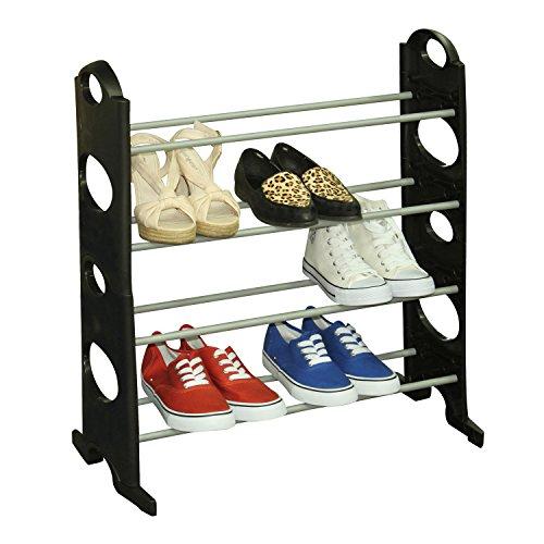 Home Basics Shoe Rack 12-Pair Black