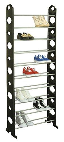 Home Basics Shoe Rack 30-Pair Black