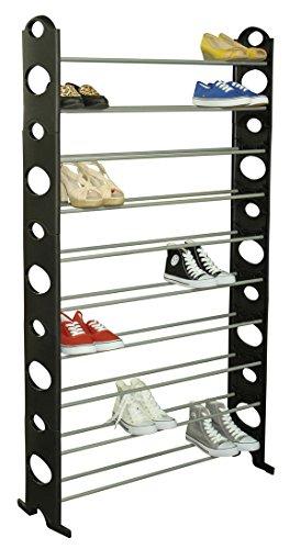 Home Basics Shoe Rack 50-Pair Black
