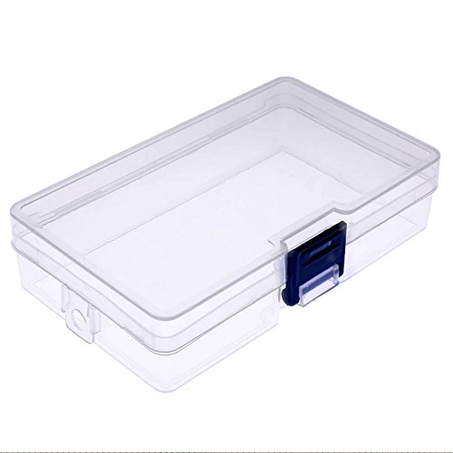 Zeroyoyo Clear Plastic Storage Boxes Container Case Organizers for Jewelry Rings Craft Beads Pills