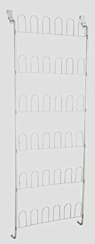 Kids Shoe Rack Storage Organizer Hanging Over the Door for Childrens Womens Ladies Lightweight Shoes - Space Saving Metal Wire Shoes Holder - Perfect Life Ideas