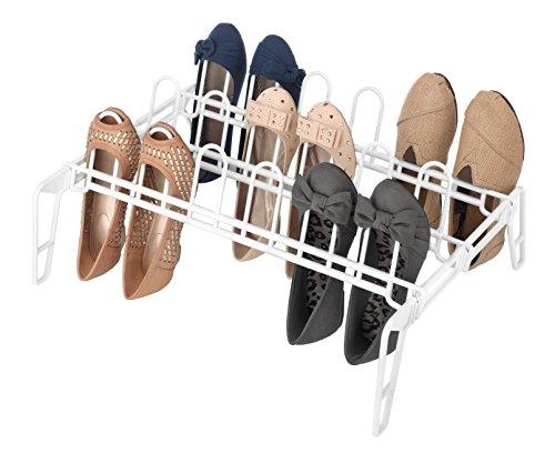 Whitmor  Pair Floor Shoe Rack White