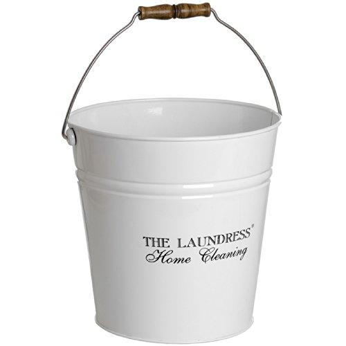 Hill Interiors The Laundress Enamel Storage Bucket One Size White